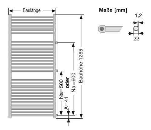 Sehr Badheizkörper Renovierung Austausch Heizkörper Seitenanschluss  ZL63